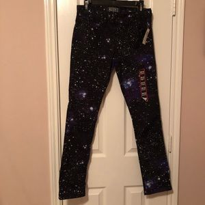 HOT TOPIC Rude XXX Galaxy Printed Jeans